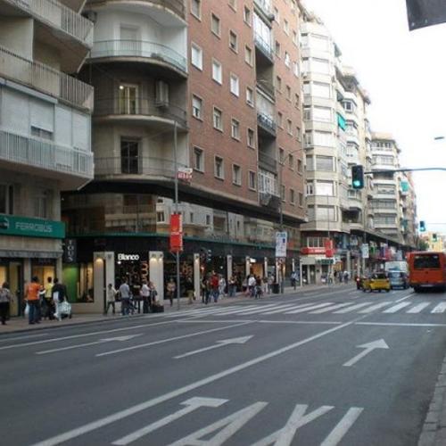 Vivir en Murcia Gran Via Escultor Salzillo principal arteria de compras y vida de la ciudad de Murcia 600x600