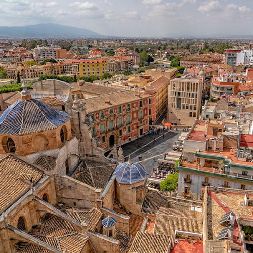Vivir en Murcia  La ciuad de Murcia desde el aire 600x600